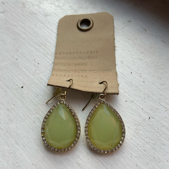 Francesca's Collections Jewelry - Mint   Translucent Tear Drop Earrings